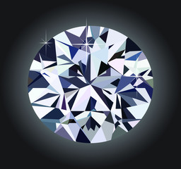 diamond and black background