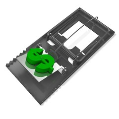 3d mousetrap with dollar sign