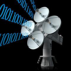 Antenna icon. Digital satellite communication concept.