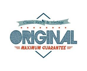 retro vintage product label