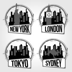 timbres villes