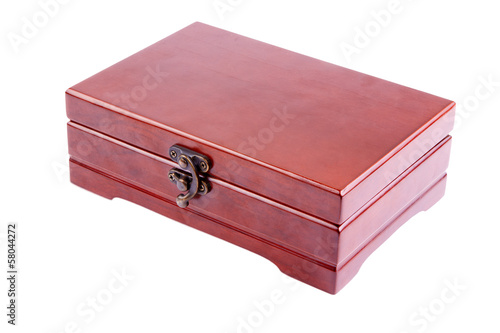 The varnished decorative casket isolated on a white background