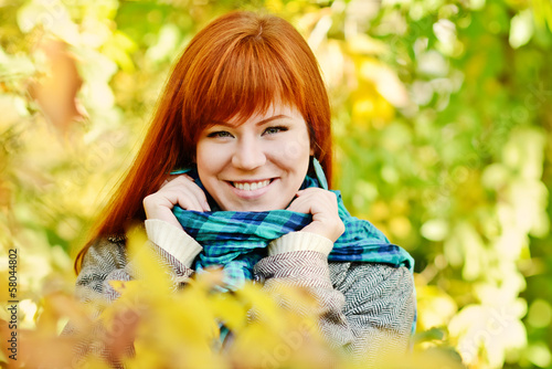 woman in fall