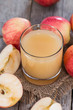 Glass filled with fresh Apple Juice