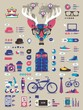 hipster info graphic