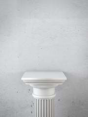 column as pedestal