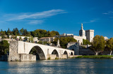 Pont du Avignon over Rhone river and old city