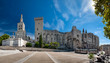Great panoramic view of Palais des Papes and Notre dame des doms