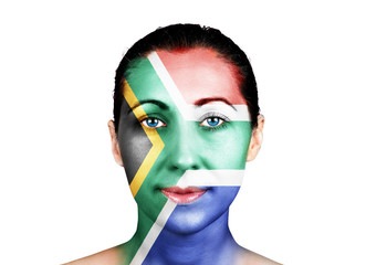 Face with the South Africa flag