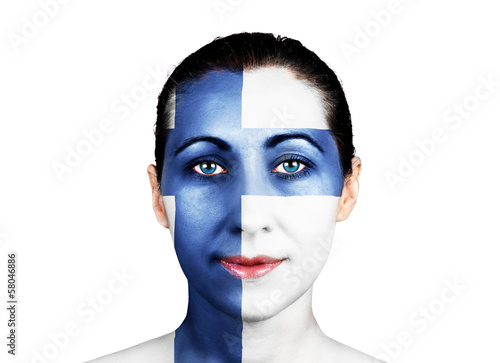 Face with the Finnish flag