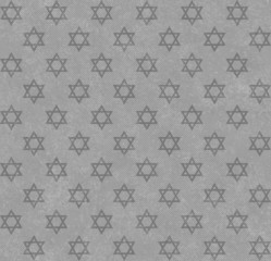 Gray Star of David Patterned Textured Fabric Background