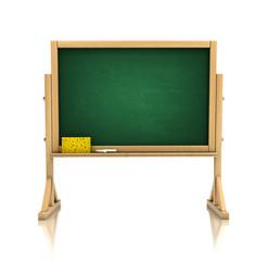 blackboard, chalkboard isolated on white