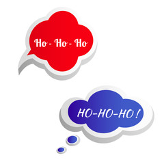 Just Say Ho! Speech bubble. Vector.