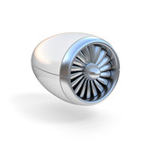 jet engine isolated