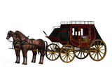 Stagecoach with Horses poster