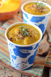 Pumpkin cream soup with pepper and spices