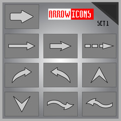 Vector Set of icons with arrows