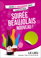 Beaujolais, vecteur CMJN multicalques dont textes modifiables