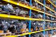 Leinwanddruck Bild - Automobile Engine Blocks