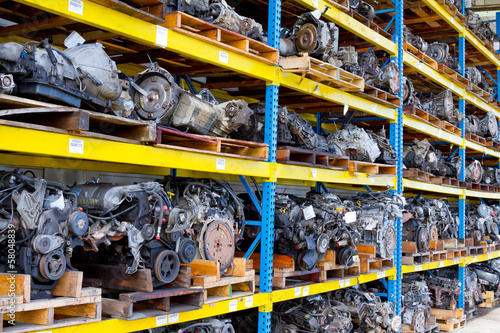Leinwanddruck Bild Automobile Engine Blocks