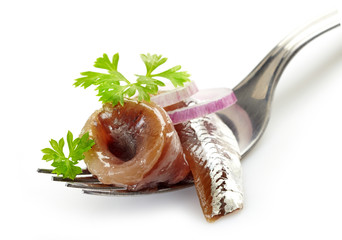 fork with anchovy roll
