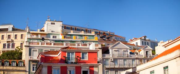 View of differents buildings in Alfama, Lisboa