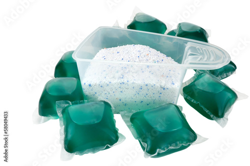 gel capsules and washing powder