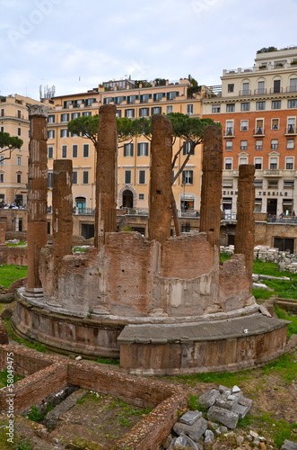 Roman Temples in Largo di Torre Argentina in Rome