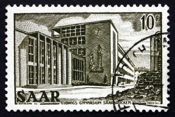 Postage stamp Saar, Germany 1953 Ludwig's Gymnasium