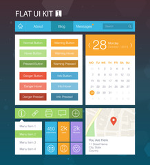 Flat User Interface Kit for web and mobile 1