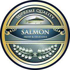 Salmon Supreme Quality Vintage Label