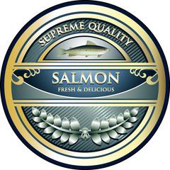 Salmon Supreme Quality Vintage Label