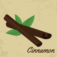 Cinnamon sticks retro poster