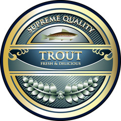 Trout Supreme Quality Vintage Label