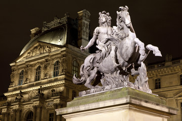 Louis XIV Statue at The Louvre in Paris
