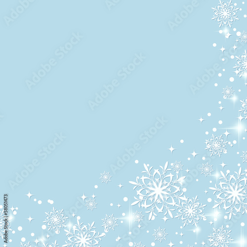 Christmas vector background with snowflakes and stars
