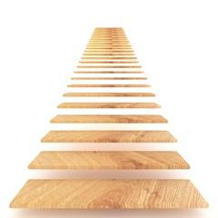 Holztreppe in den Himmel