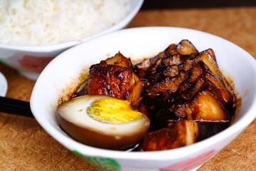Pork, braised pork - asia food