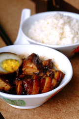Pork, braised pork - asia food