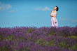 Beautiful provence woman in lavender field