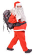 Santa Claus with backpack