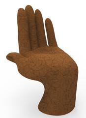 land hand