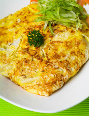 omelet with rice and fish sauce spicy.