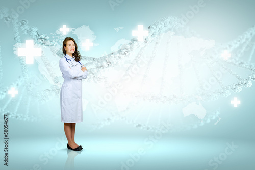 Woman scientist