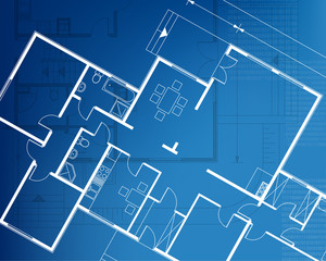 architectural background blueprint. vector illustration