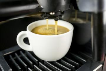 Machine making espresso
