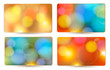 Set of holiday colorful abstract gift cards. Vector