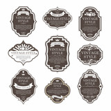 Fototapety Vintage labels vector set