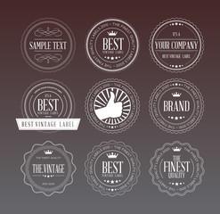 Transparent Vintage Labels