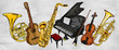 Painting Music Instruments - 58057025